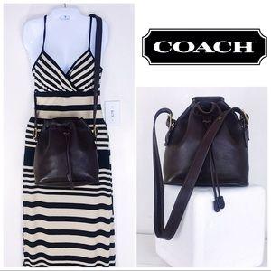 Coach Vintage Mahogany Made in USA Bucket Bag
